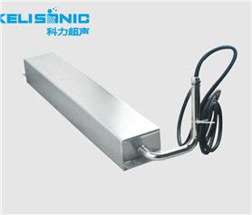 Submerged ultrasonic shock plate